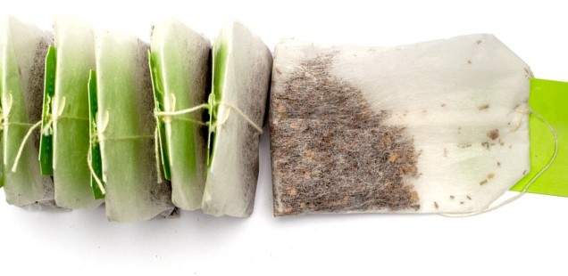 Green Tea Bags for Lip Care