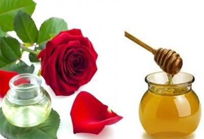 Honey and Rose Water for Chapped Lips